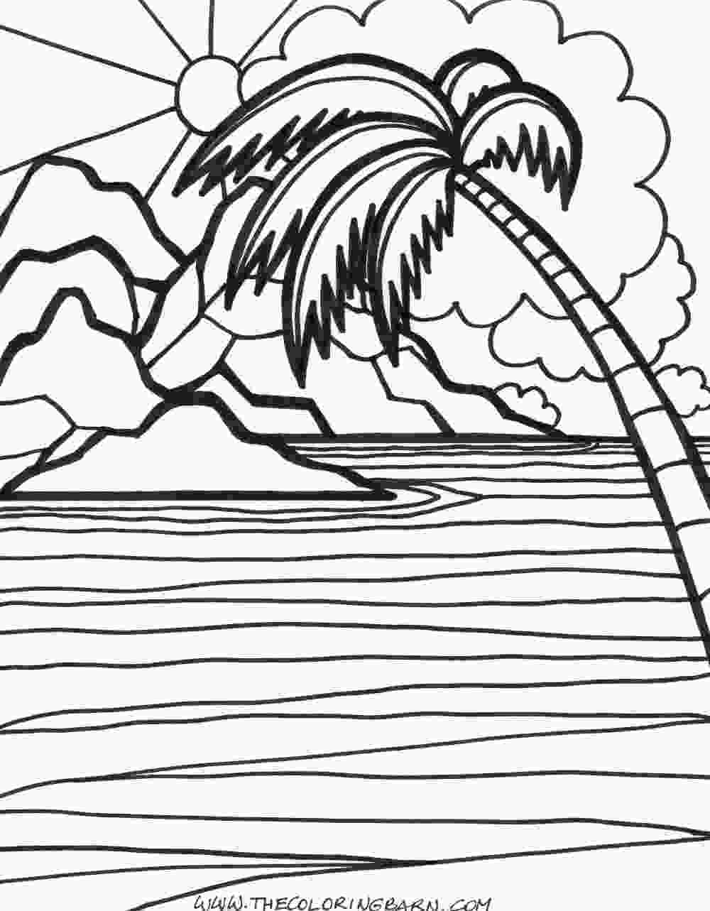 coloring image sunset beach sunset coloring pages at getcoloringscom free