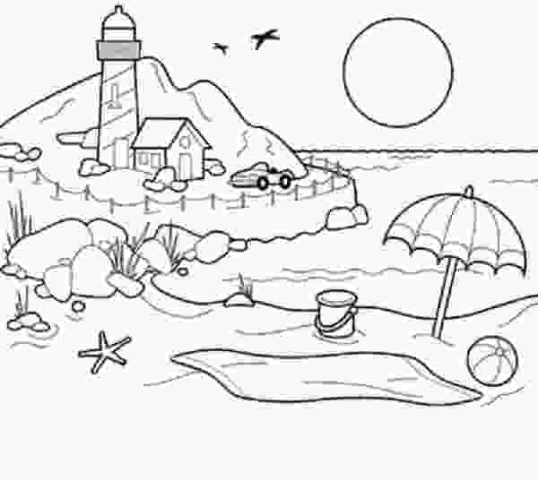 coloring image sunset beach sunset coloring pages for girls and boys pictures