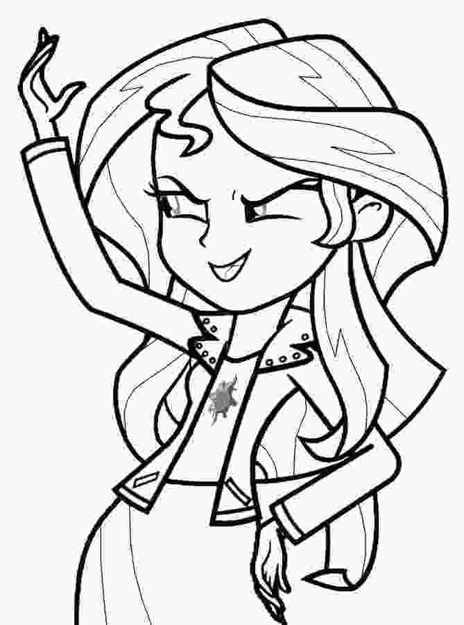 coloring image sunset my little pony princess sunset shimmer coloring page my