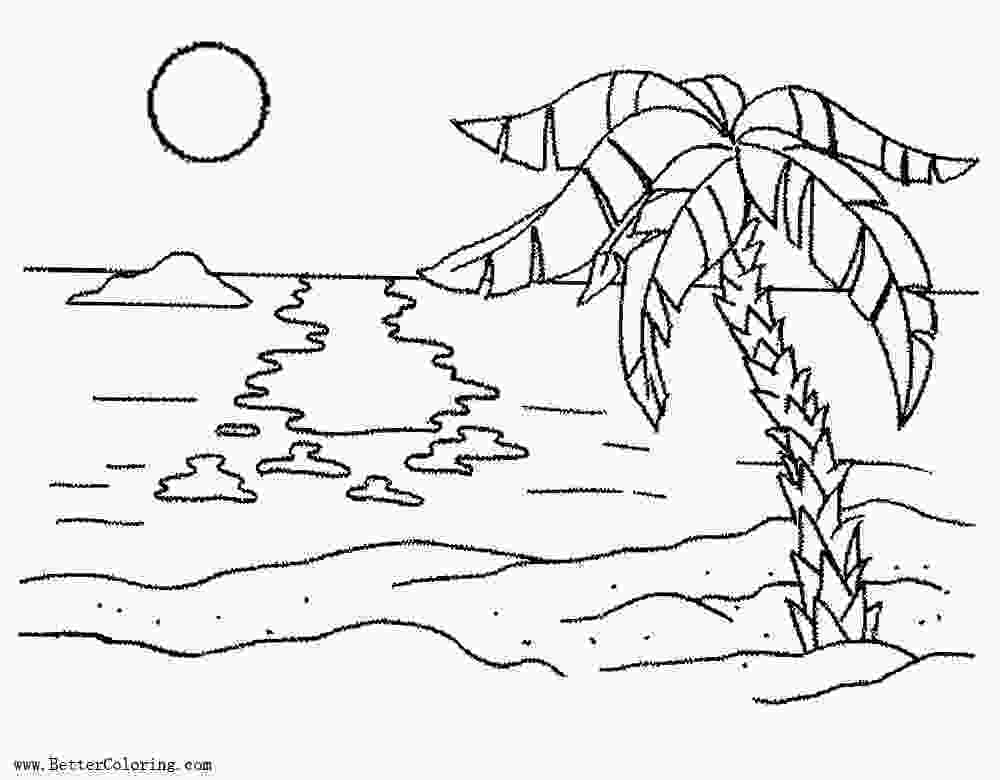 coloring image sunset palm tree coloring pages with sunset free printable