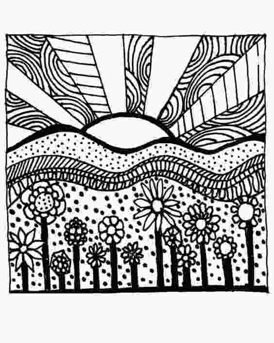 coloring image sunset printable sunset coloring pages