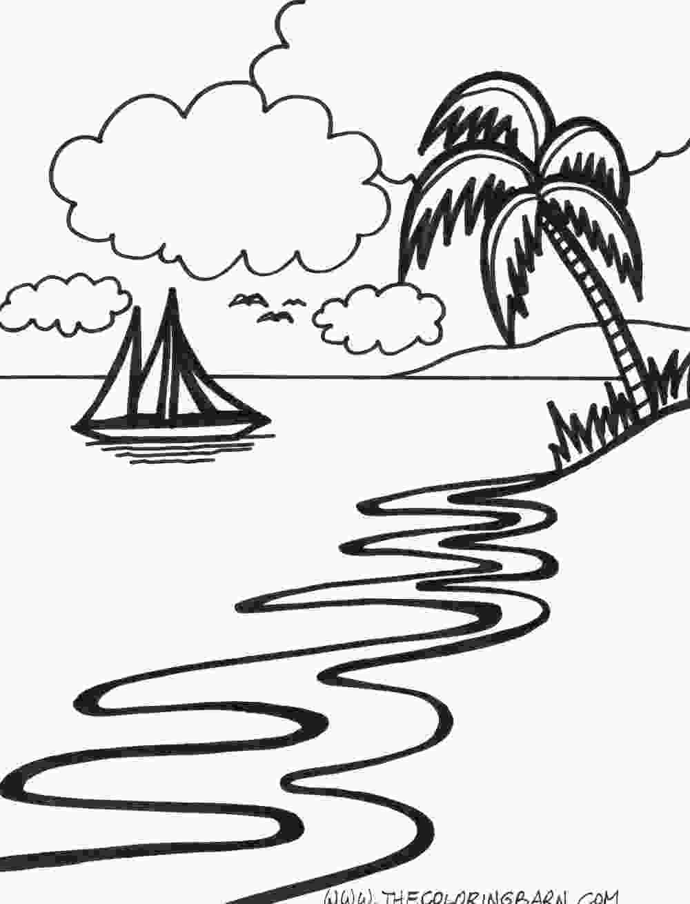 coloring image sunset sunset drawing black and white at getdrawingscom free