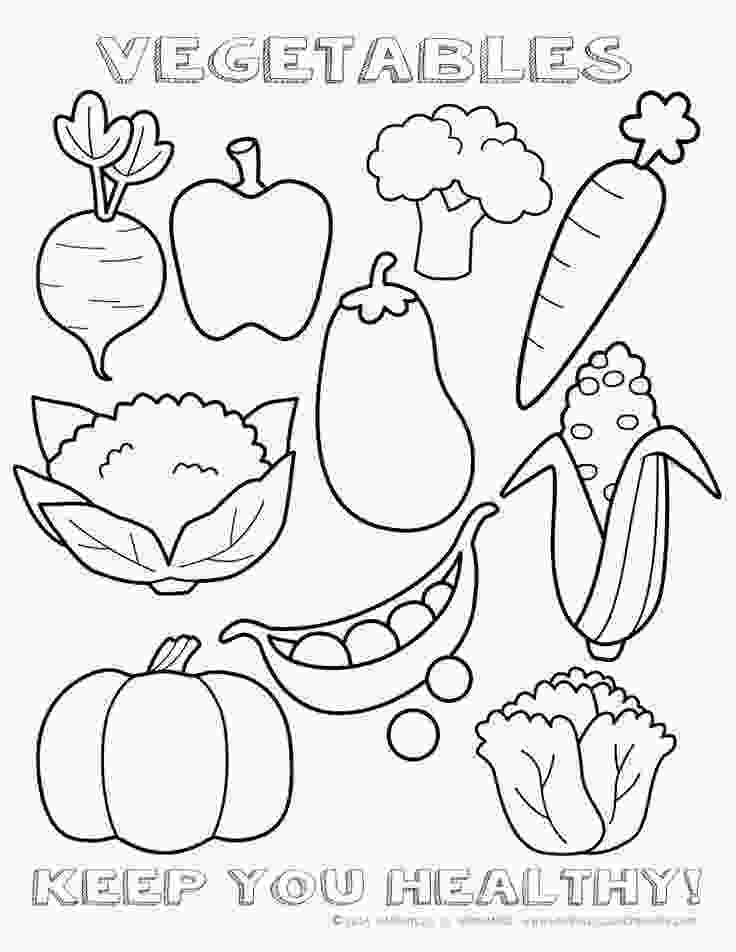 coloring images of vegetables healthy vegetables coloring page sheet printable quoti