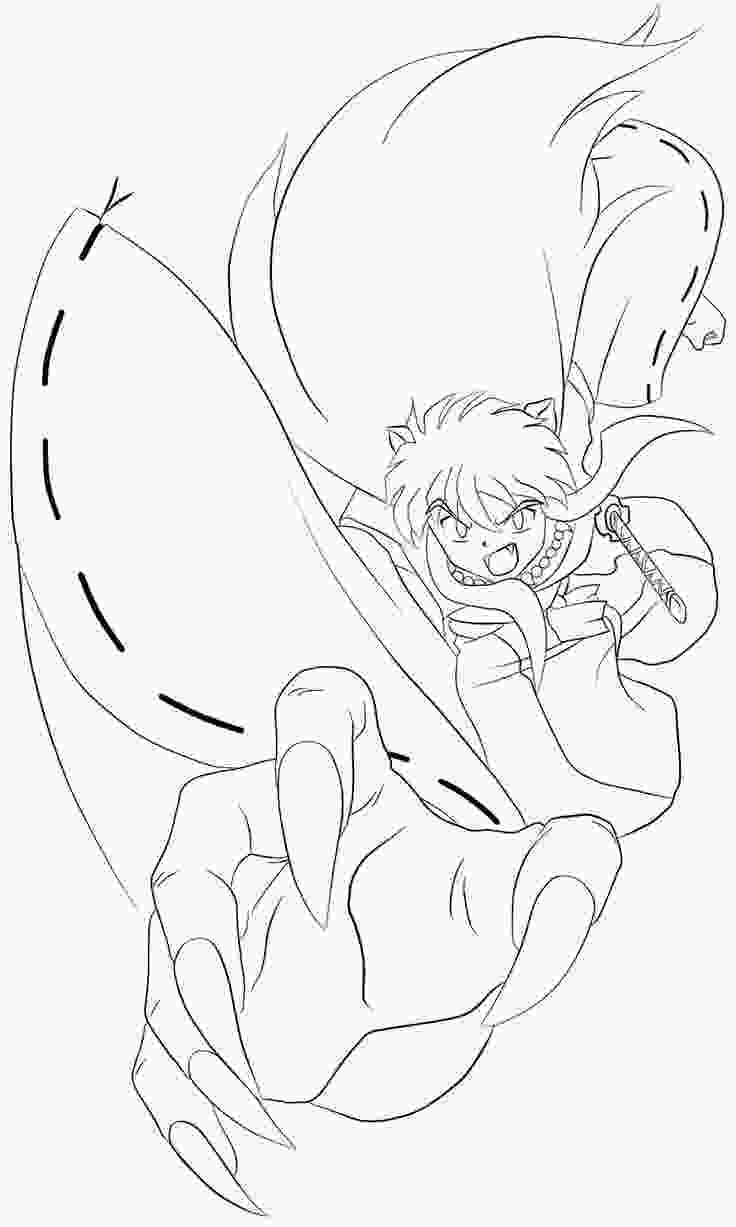 coloring inuyasha 40 best images about inuyasha coloring pages on pinterest