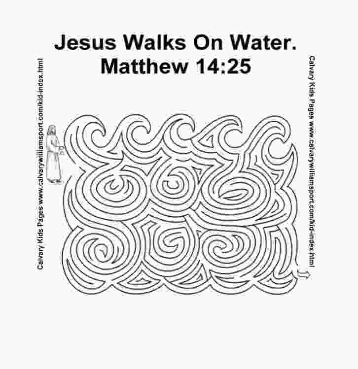 coloring jesus walks on water activity home wwwcalvarywilliamsportcom
