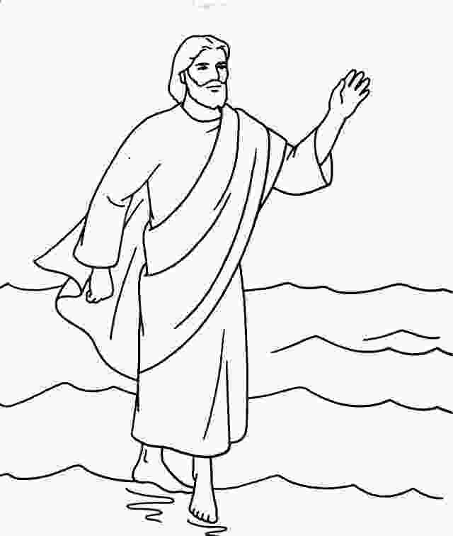 coloring jesus walks on water activity jesus christ coloring pages more fun for kids at