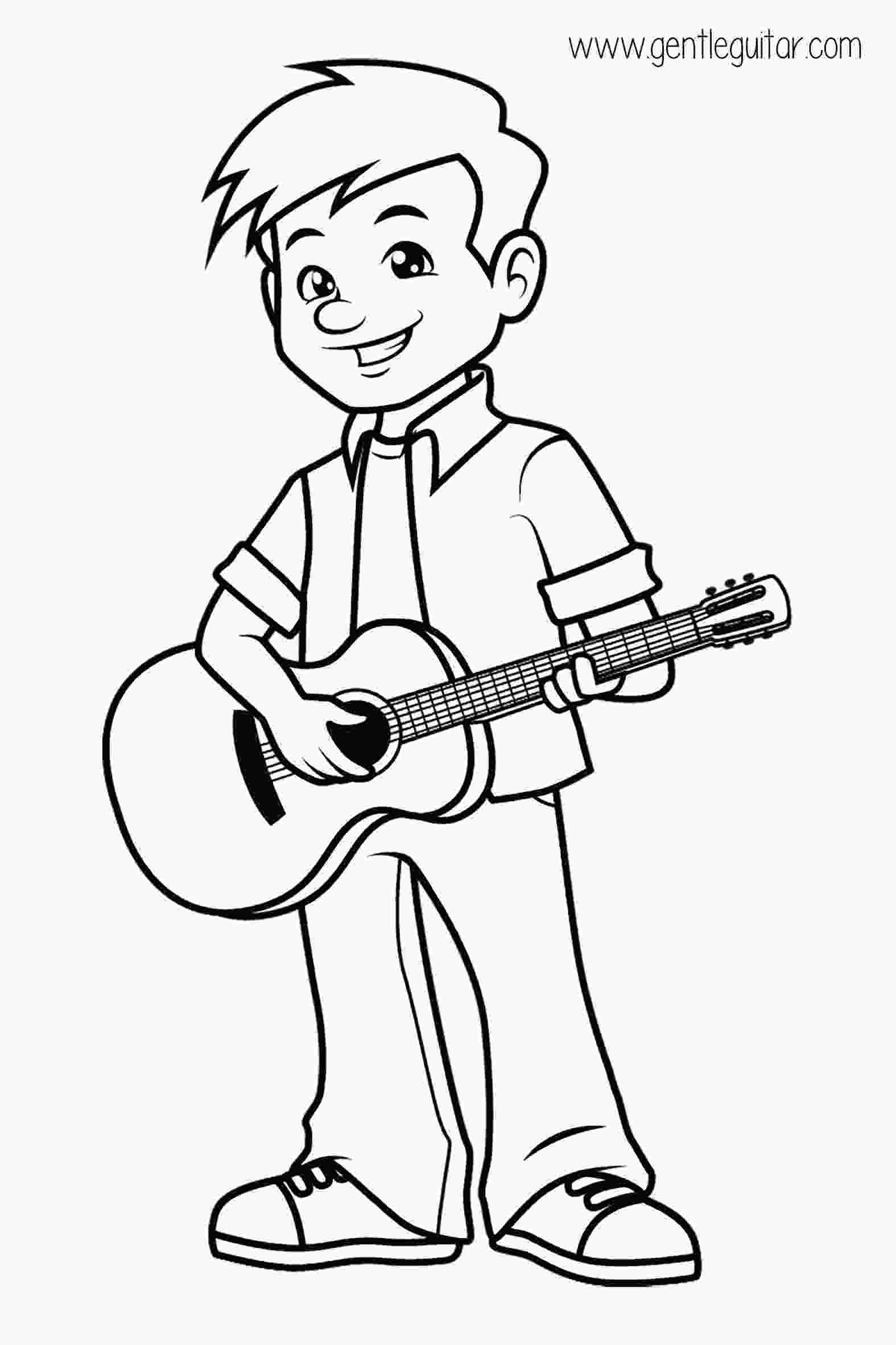 coloring music for kids coloring a boy playing guitar coloring prepares children