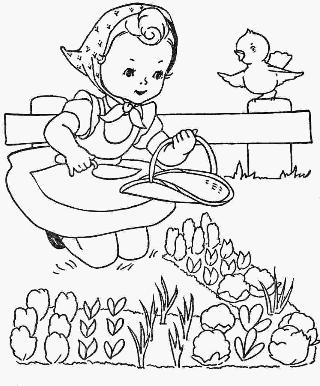 coloring page garden favorite paint book little girls q is for quilter