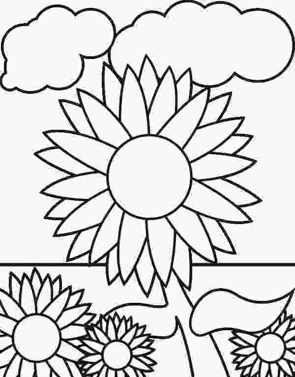 coloring page garden free sunflower coloring page download free clip art free