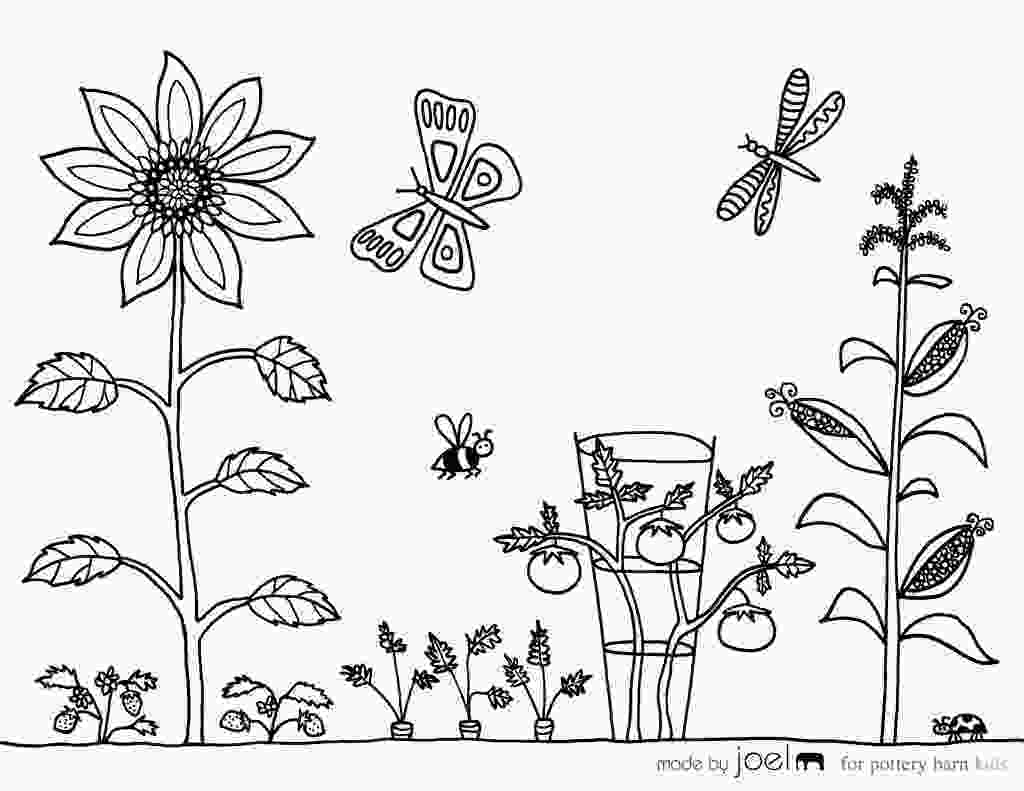 coloring page garden garden coloring pages to download and print for free 1