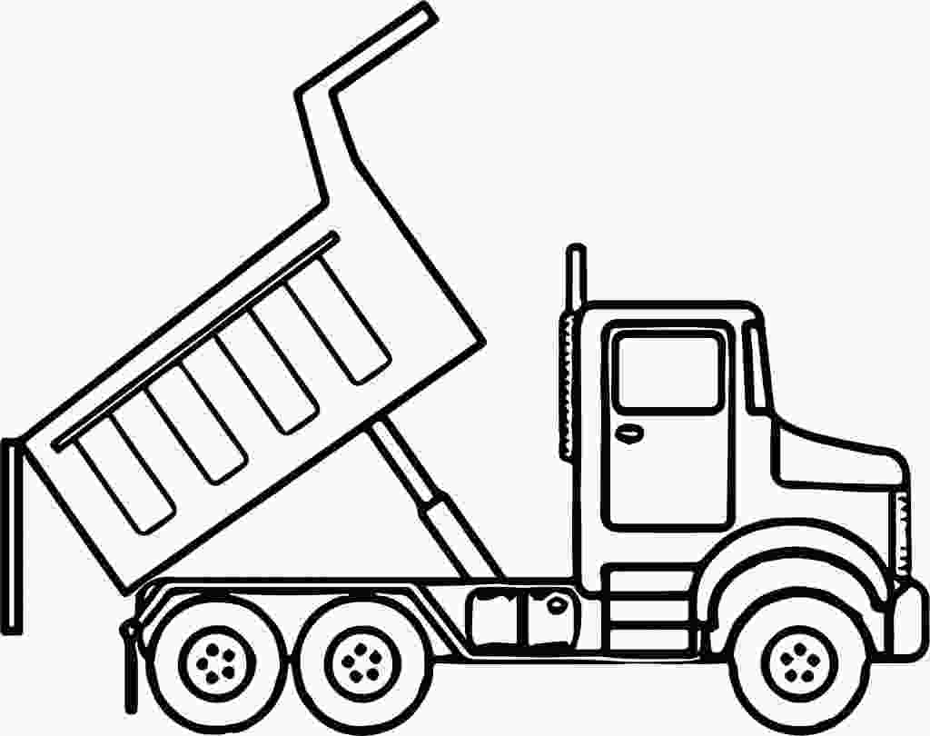 coloring page truck dump truck drawing at getdrawingscom free for personal