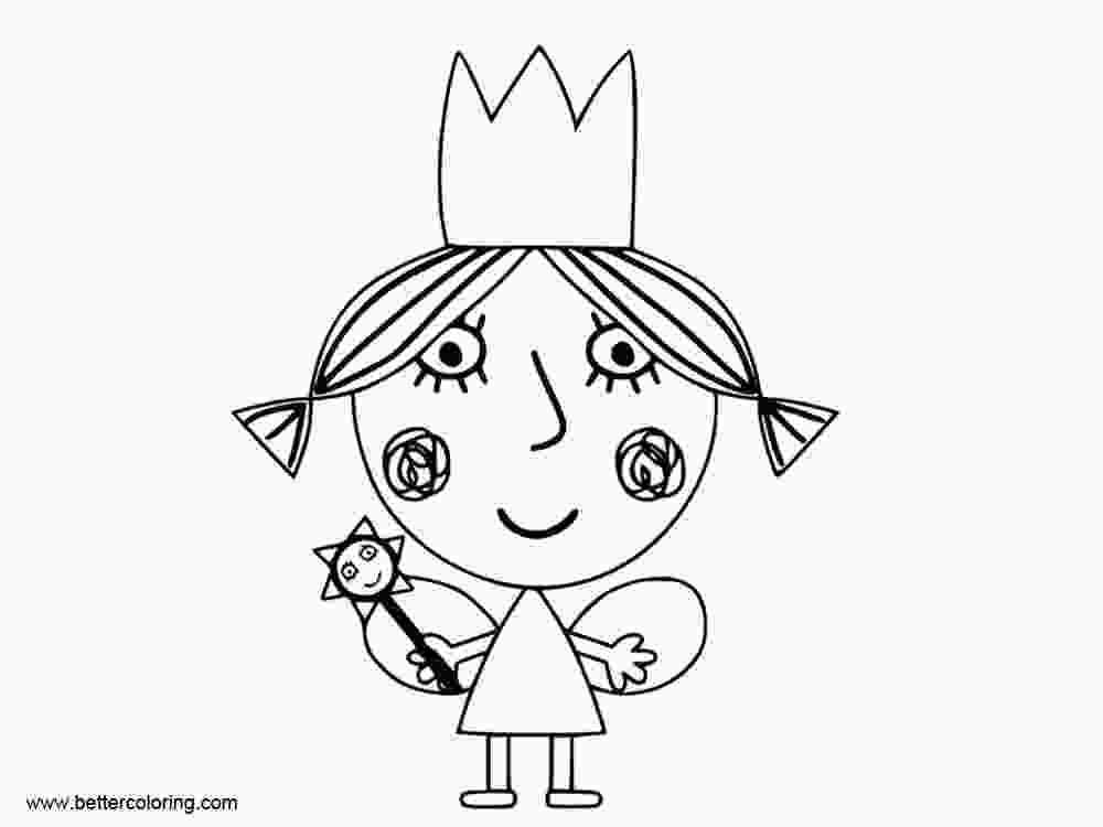 coloring pages ben and holly little girl from ben and holly coloring pages free