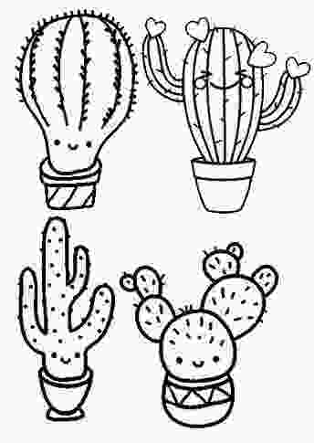 coloring pages cactus cute cactus coloring page for children
