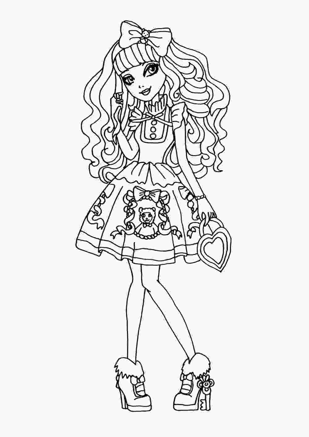 coloring pages ever after high coloring pages to download and print for free
