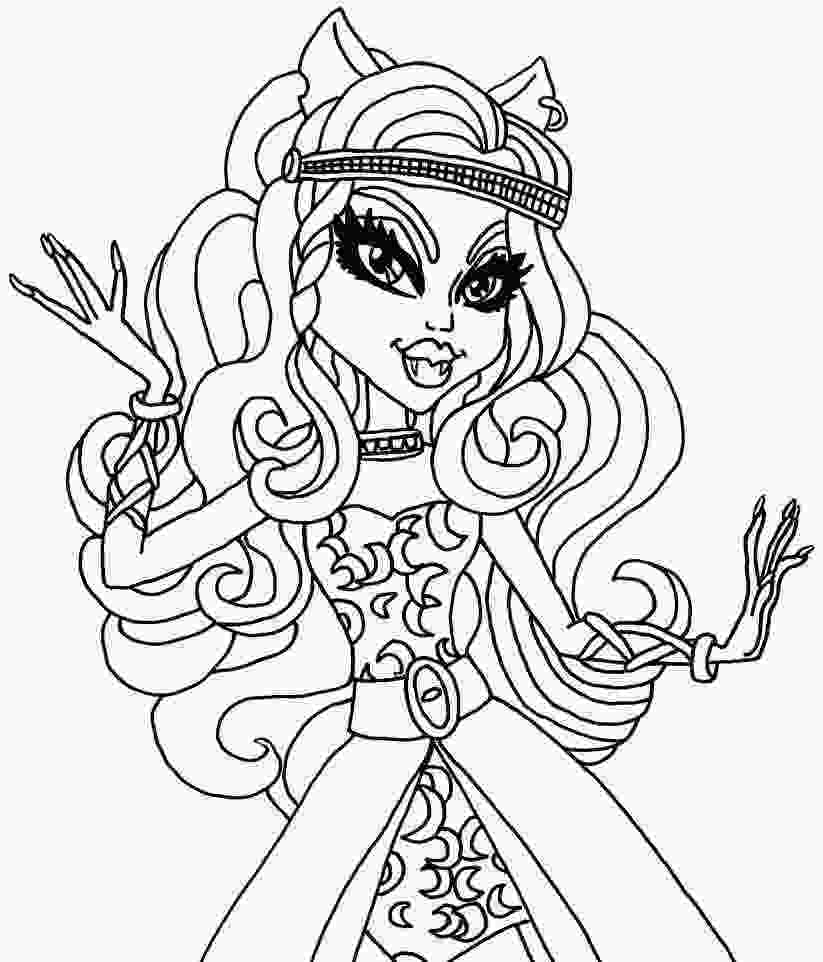 coloring pages for girls monster high monster high girl coloring pages coloring home