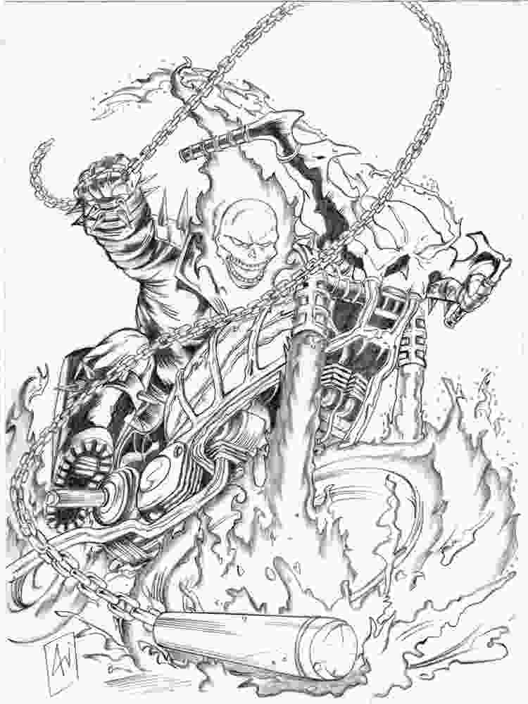 coloring pages ghost rider coloring pages free printable ghost rider