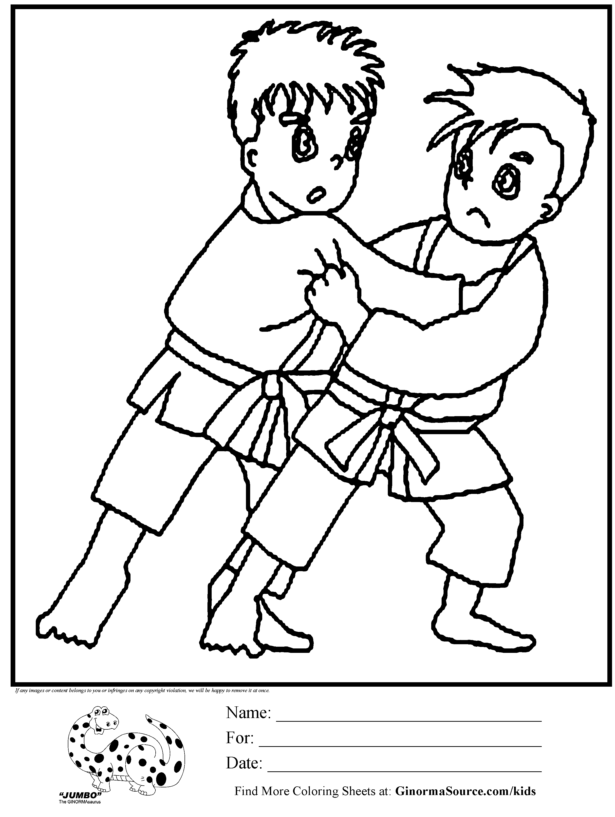 coloring pages karate coloring pages download and print for free