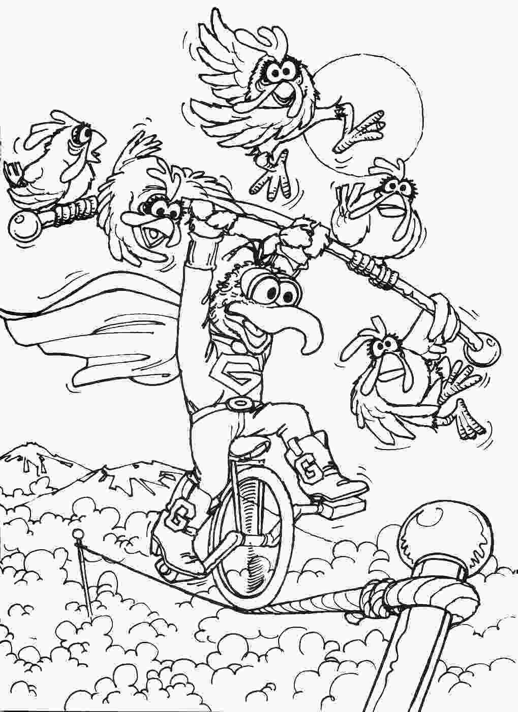 coloring pages muppets coloring pages