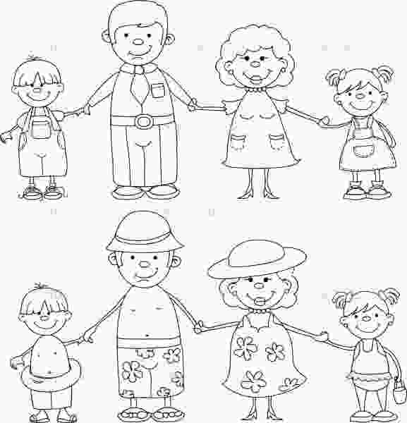 coloring pages of family members family members colouring pages