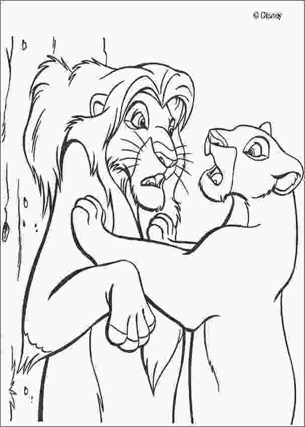 coloring pages of simba nala finds simba coloring pages hellokidscom
