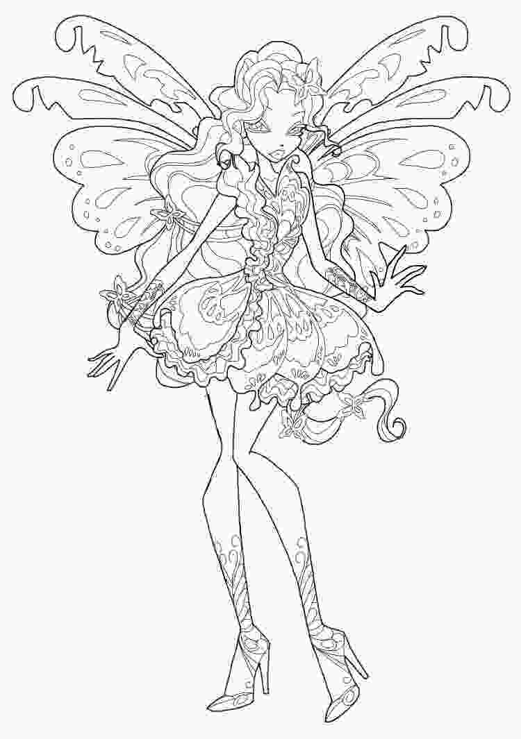coloring pages winx butterflix coloring pages to download and print for free