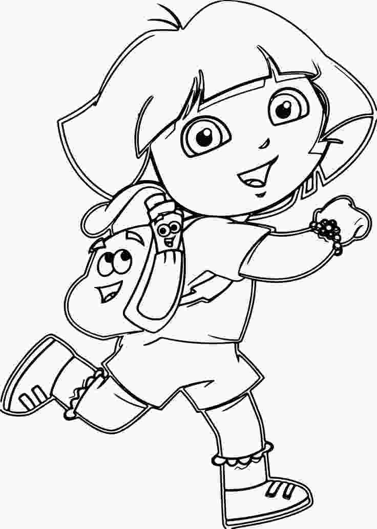 coloring pictures cartoon dora cartoon coloring pages wecoloringpage dora