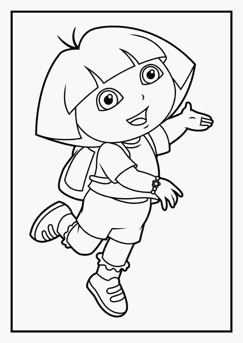 coloring pictures of dora printable coloring pages dora and friends into the city coloring pages