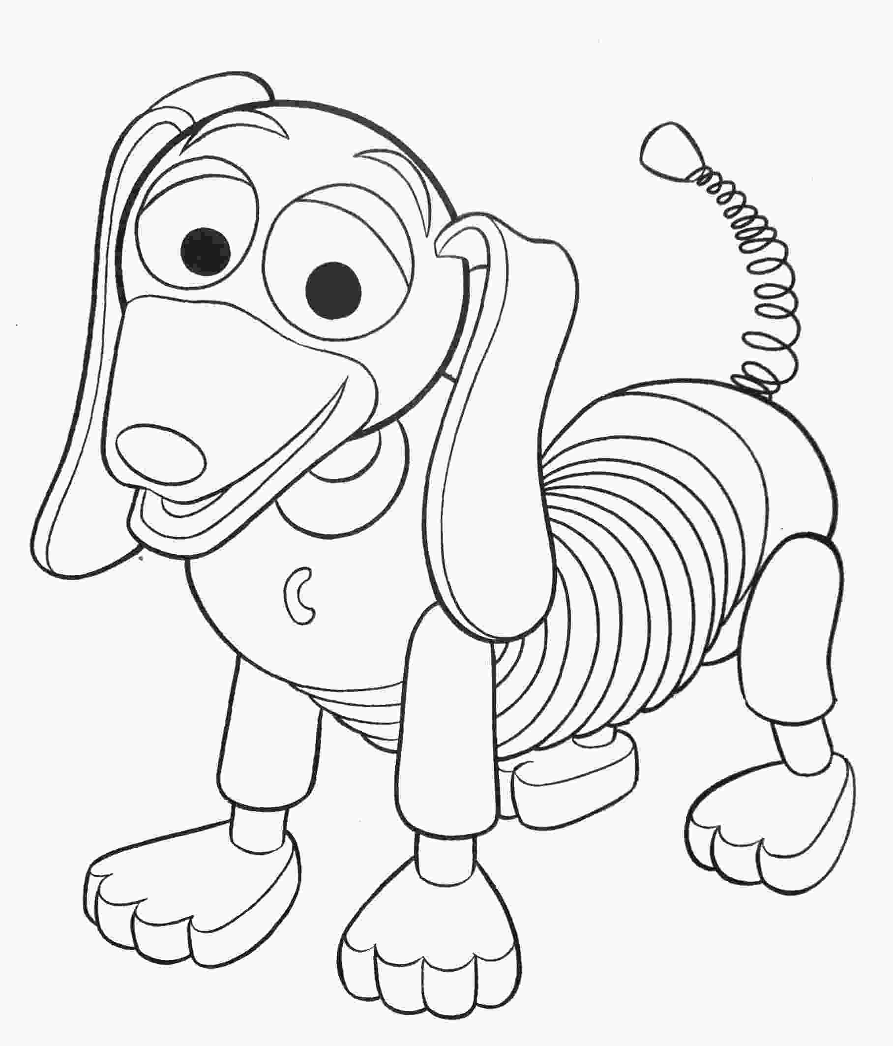 coloring toy story toy story coloring pages toy story slinky dog coloring