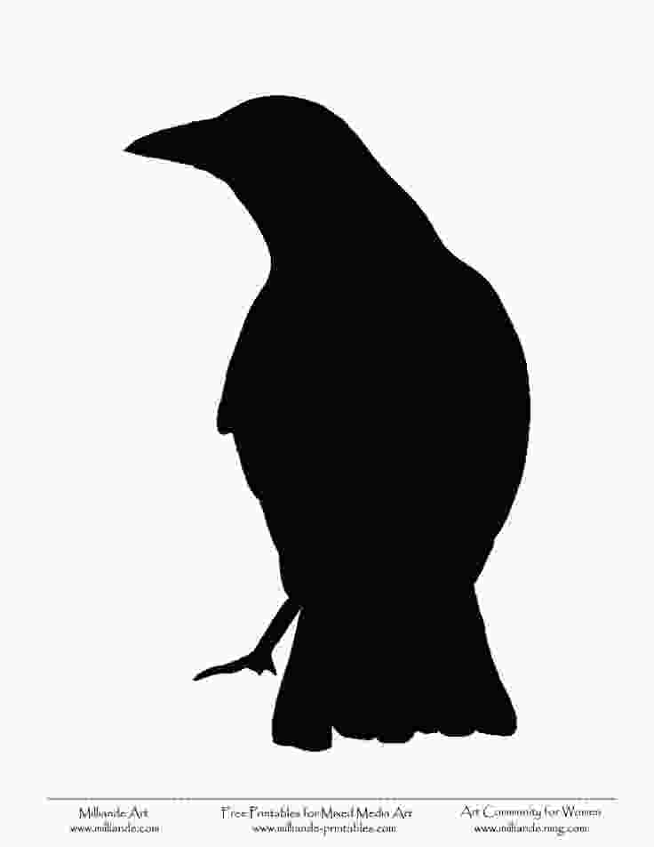 crow printable crow stencils templates pinterest
