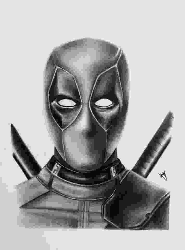 deadpool draw andyvrenditions andy v deviantart