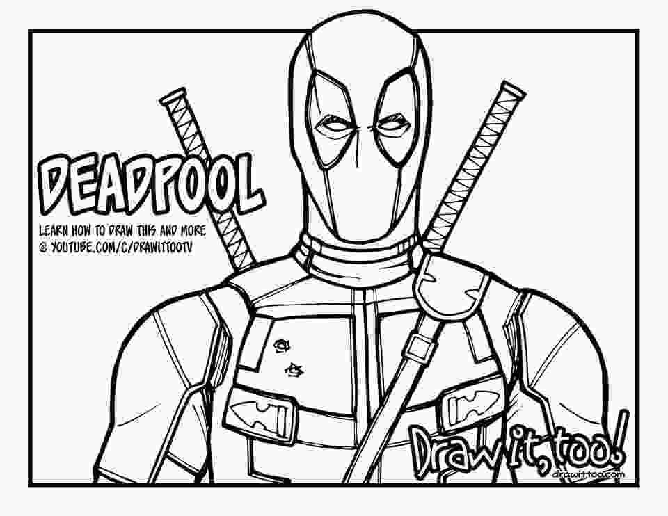 deadpool draw its everybodys favorite merc with a mouth deadpool