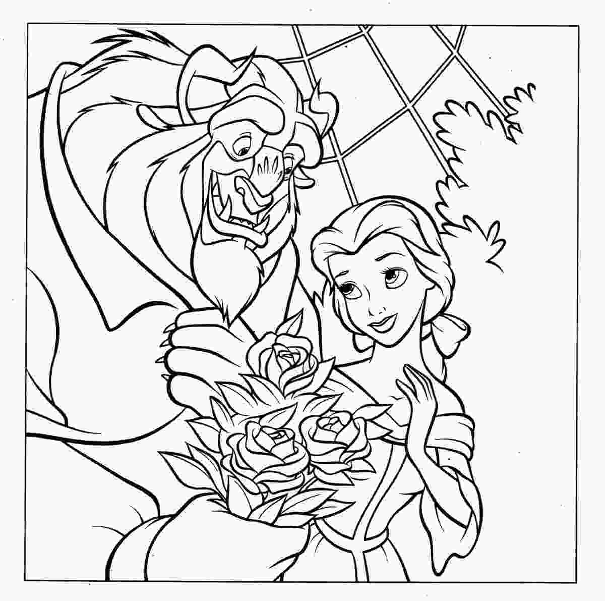 disney coloring sheets disney princess belle coloring pages