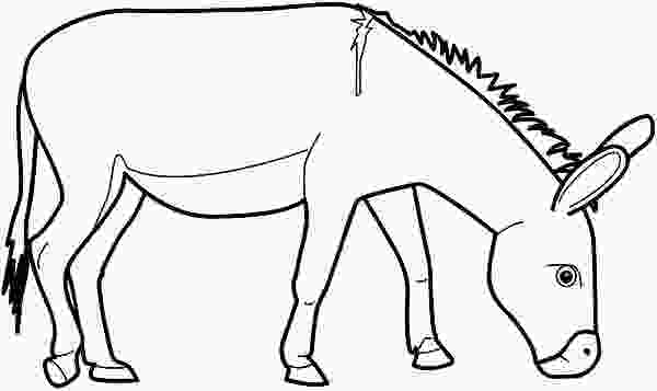 donkey face coloring page donkeys coloring pages learny kids