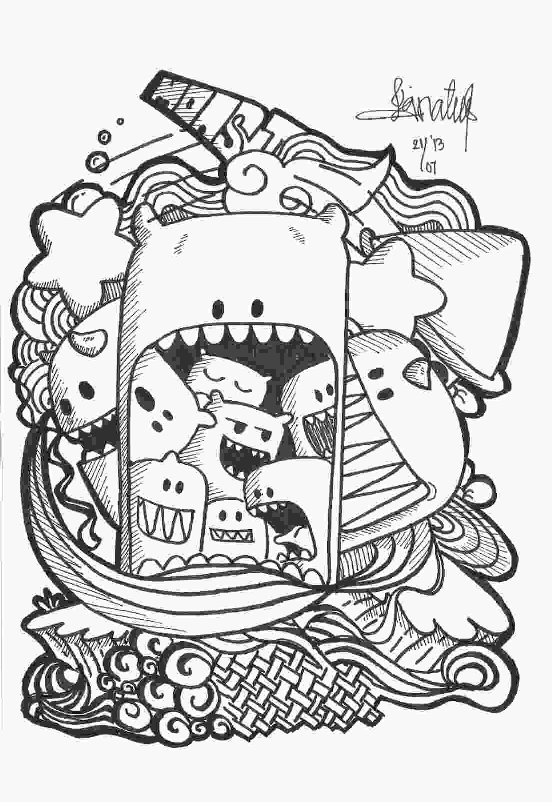 doodle art coloring pages art11jpg 11032151600 inspiration pinterest