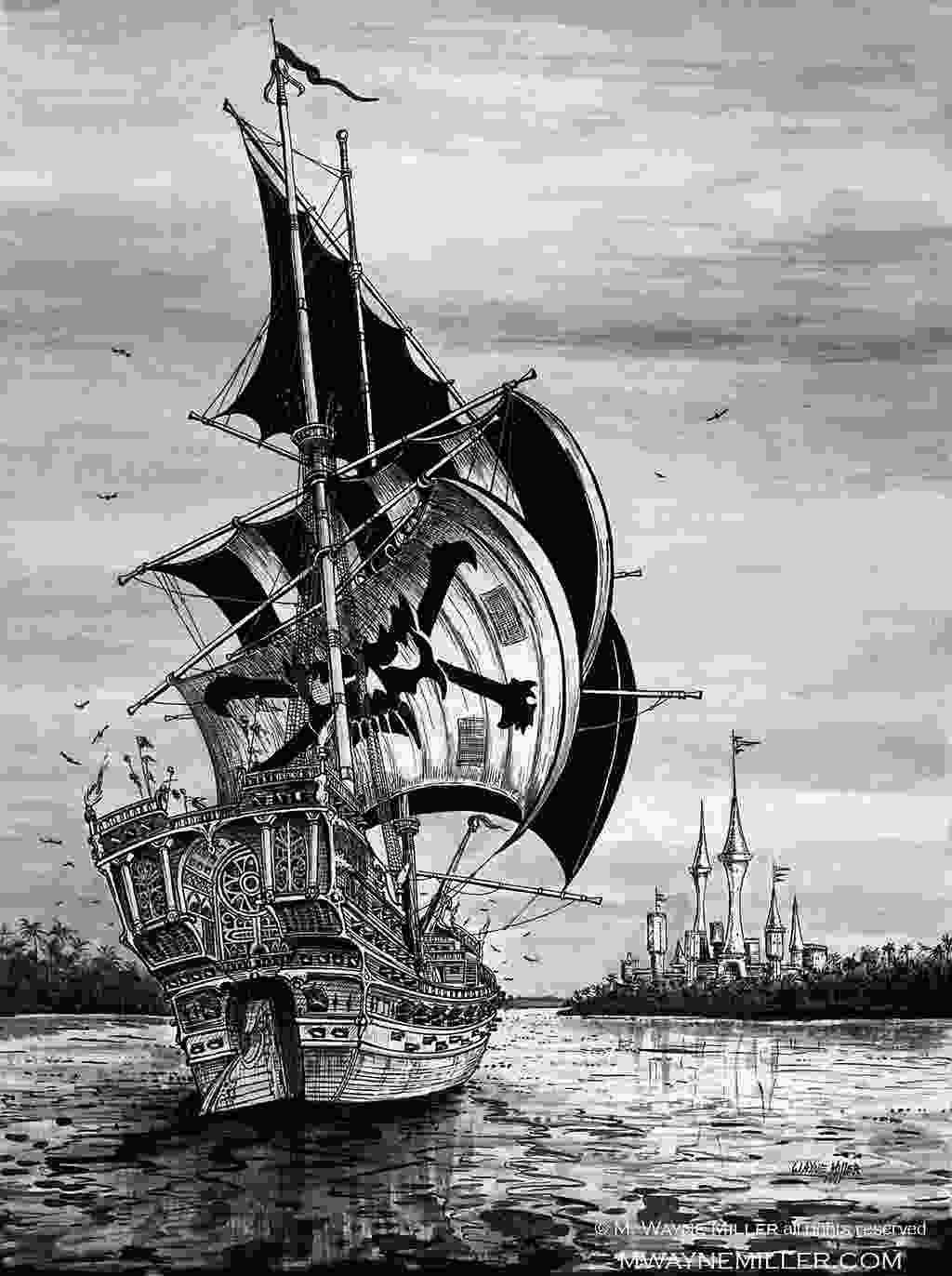 drawing of pirate ship pirate ship by gjsx51 on deviantart