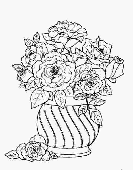 flowers in vase coloring pages arranging flowers in a round vase for beautify a house