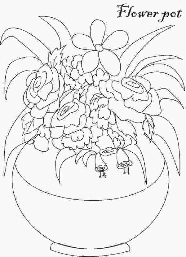 flowers in vase coloring pages decorative flower vase coloring page coloring sky