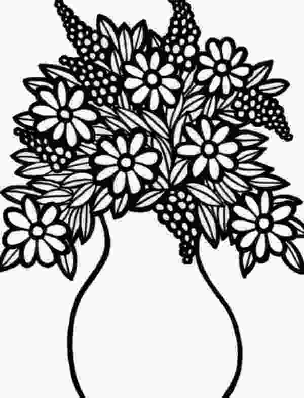 flowers in vase coloring pages flower vase coloring pages at getcoloringscom free