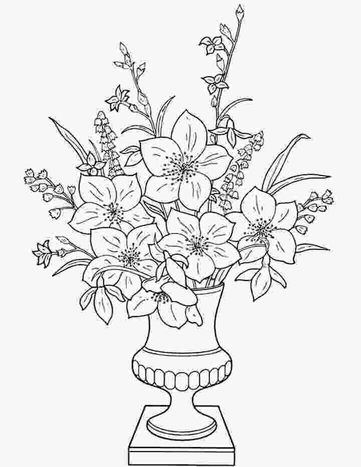 flowers in vase coloring pages flowers in a vase coloring page for kids free printable