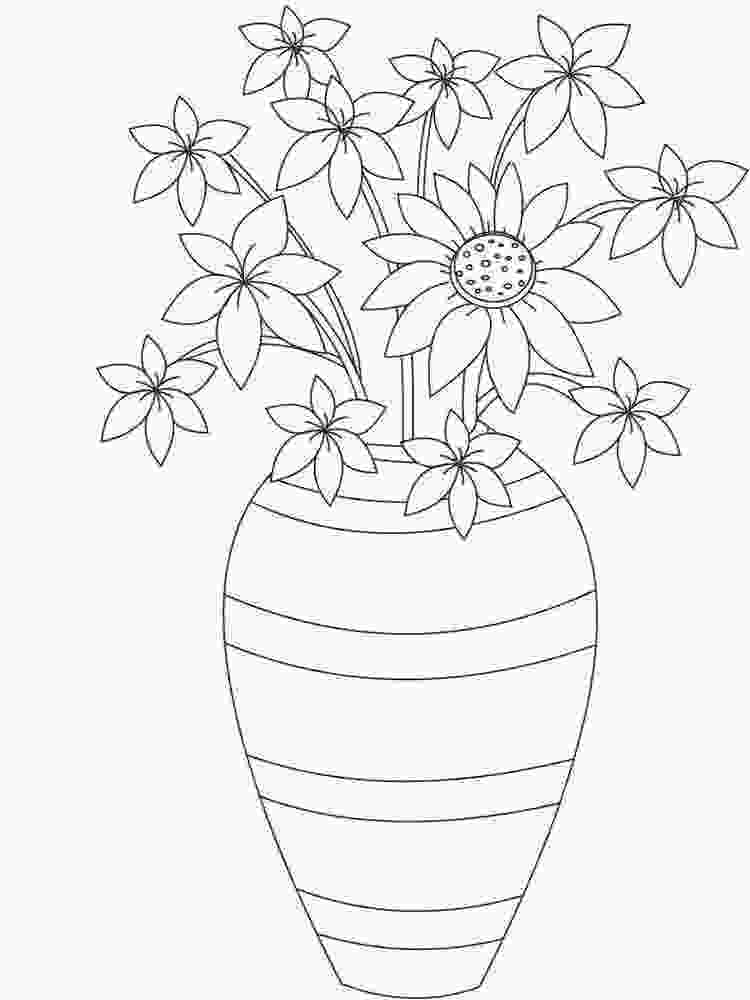 flowers in vase coloring pages flowers in a vase coloring pages download and print 1