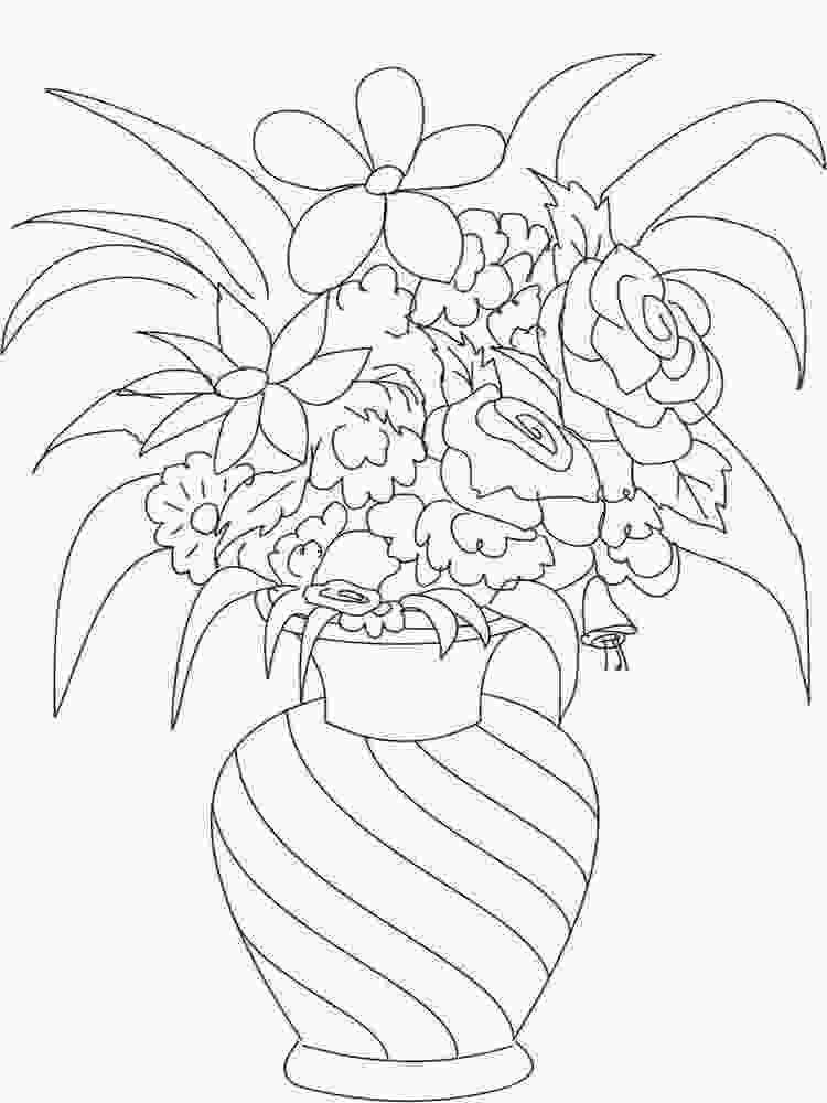 flowers in vase coloring pages flowers in a vase coloring pages download and print 3