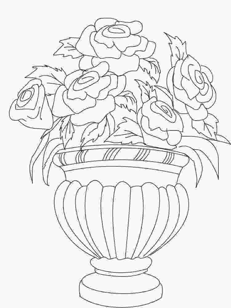 flowers in vase coloring pages flowers in a vase coloring pages download and print 4