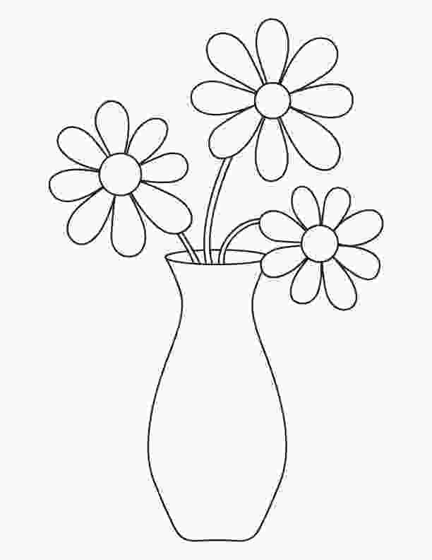 flowers in vase coloring pages flowers in a vase drawing at getdrawingscom free for