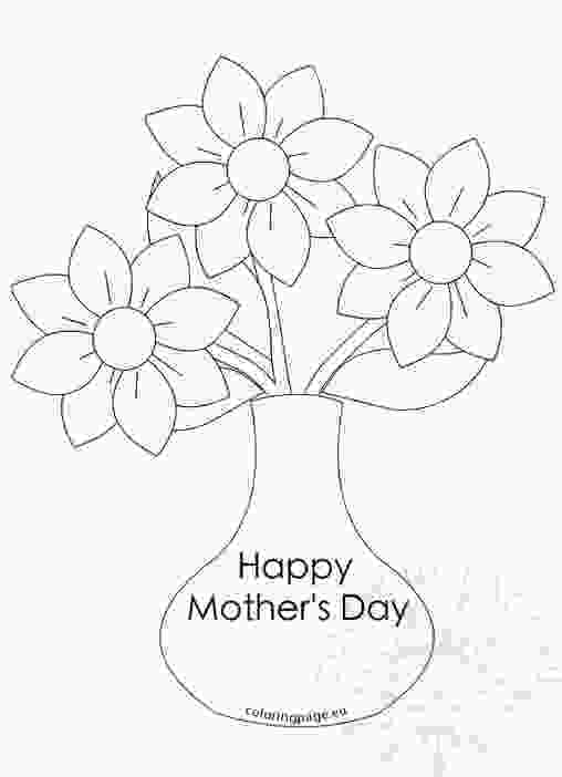 flowers in vase coloring pages mothers day coloring page