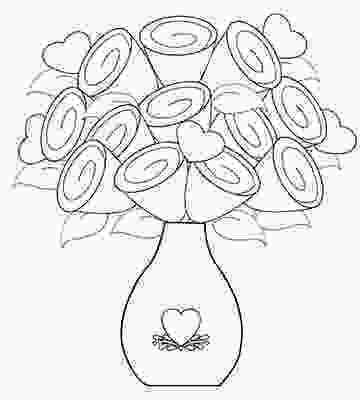 flowers in vase coloring pages valentines day coloring pages