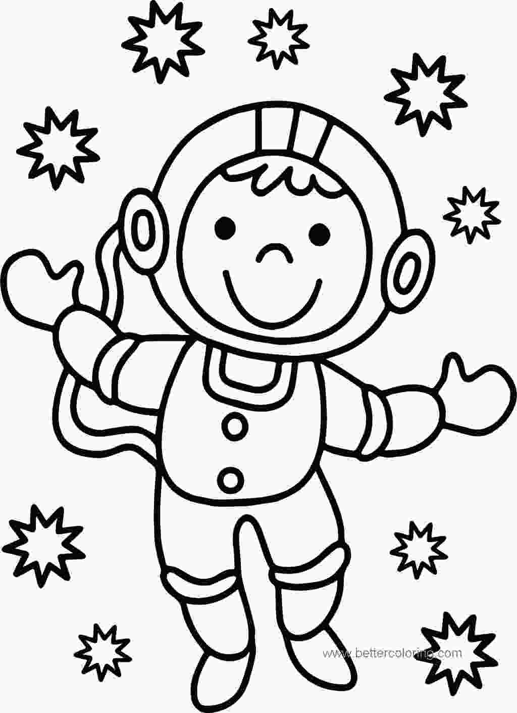 free astronaut coloring pages printable astronaut coloring pages lineart 258 free