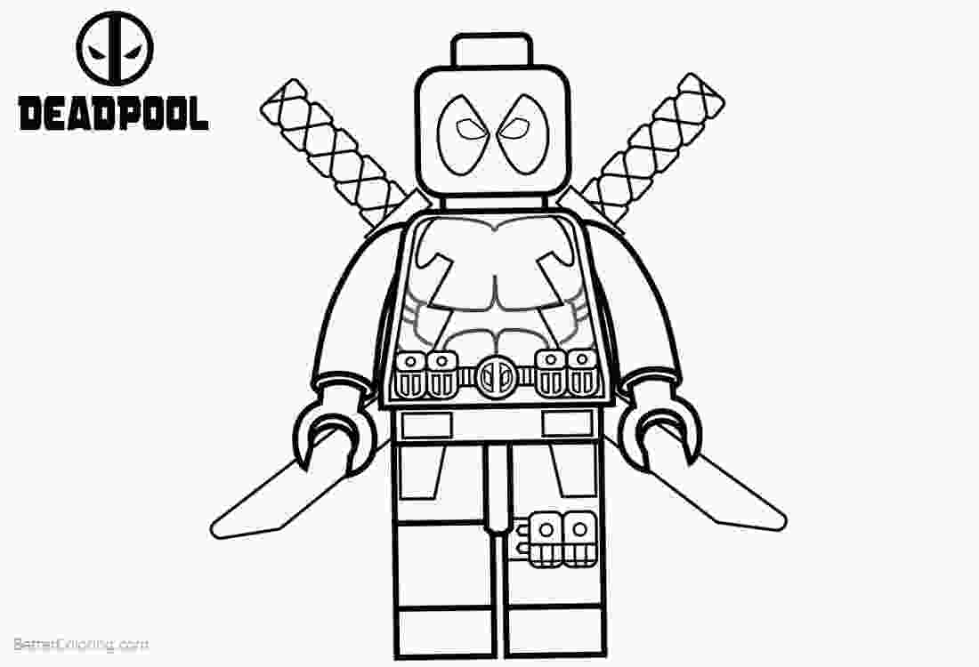 free lego printable coloring pages lego deadpool coloring pages black and white free printable coloring pages
