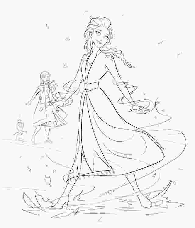frozen 2 coloring sheets another frozen 2 sketch art by