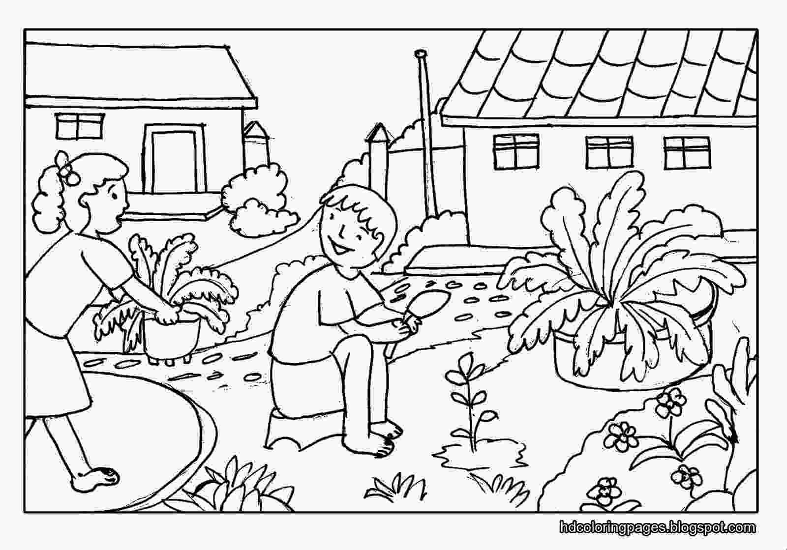 garden coloring sheets gardening coloring pages for kids