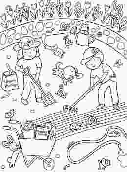 garden coloring sheets kids gardening coloring pages free colouring pictures to print